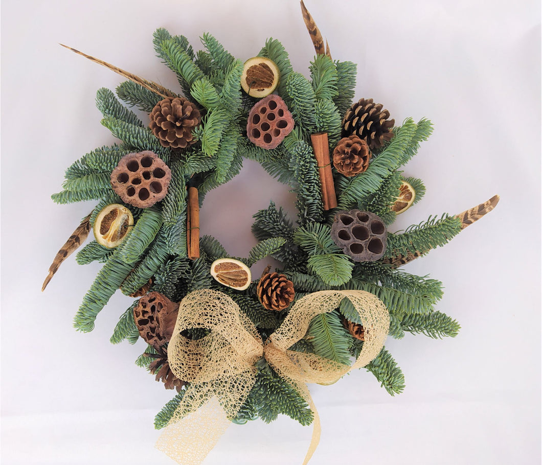Countryside Christmas Wreath Kit | DIY Christmas Wreath | Real Christmas Wreath | Dorset | poole | Dorset Flower Delivery  | Uk Flower delivery | Christmas Gifts | Florist dorset | Dorset