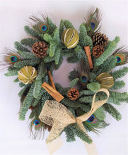 Load image into Gallery viewer, Christmas Wreath | Dorset Florist | Christmas Flowers Dorset | Blandford | Dorchester | Christmas Craft | Make your own christmas Wreath | Wreath Kit | Christmas Decorations | Christmas Door | Christmas Wreath Traditional | silver Christmas Decorations | UK christmas wreath delivery | silver Christmas Decorations | silver christmas | sparkle and shine | bling christmas | towie | modern christmas wreath
