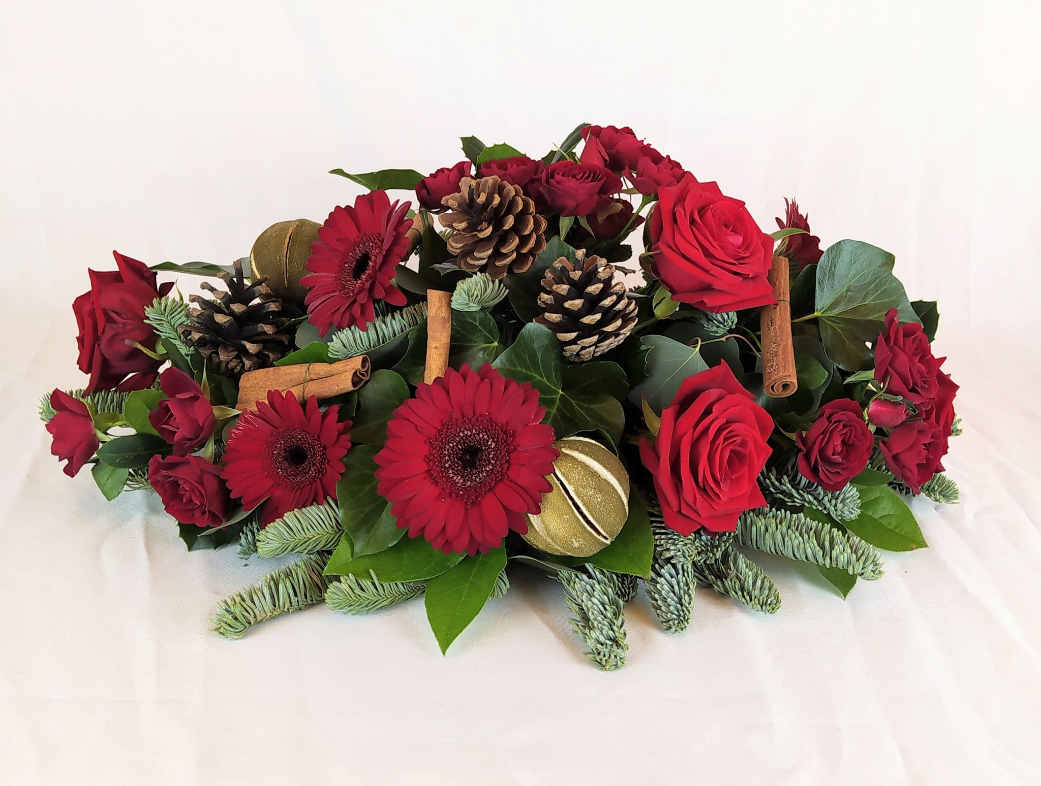 Christmas Table Fresh Flower Centrepiece Parks Florist