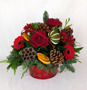 Red Christmas Arrangement Large