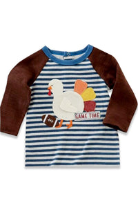 Turkey Thanksgiving Raglan Stripe Top 150165