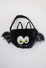 Load image into Gallery viewer, Halloween candy basket black bat puffy embroidery bucket B190701 bag sale