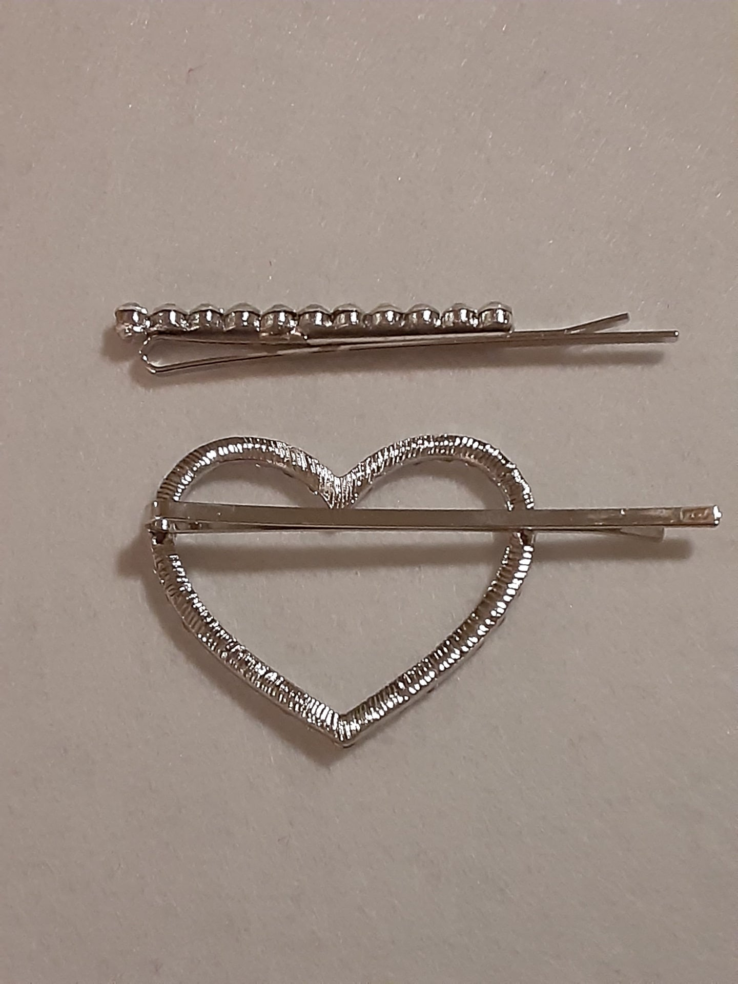 Girls Rhinestone Heart Bobby Pin