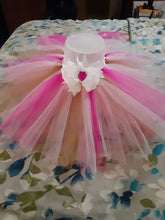 Load image into Gallery viewer, Pink White Gold Tutu