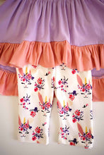 Load image into Gallery viewer, Purple bunny easter ruffle tunic with capri shorts set ZKTZ-204062 sale