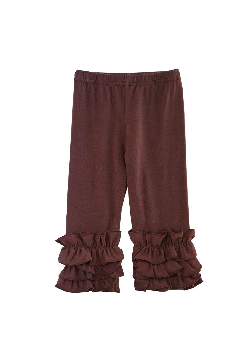Solid Brown ruffle Icing Pants for Girls/Kids 300078