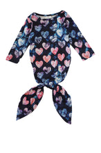 Load image into Gallery viewer, Tie dye hearts baby gown