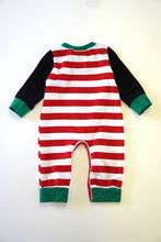 Load image into Gallery viewer, Snowman applique stripe baby romper