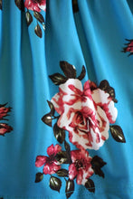 Load image into Gallery viewer, Teal floral & pink bow dress CXQZ-580338