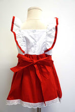 Load image into Gallery viewer, Red christmas tree flutter sleeve dress 900078