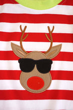 Load image into Gallery viewer, Red stripe cool rudolph baby romper DXPPF-319505