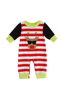 Red stripe cool rudolph baby romper DXPPF-319505
