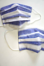 Load image into Gallery viewer, Blue Stripe Mom & Me face cotton mask sale
