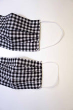 Load image into Gallery viewer, Black white gingham Mom & Me face cotton mask sale