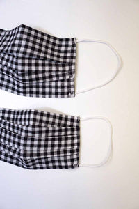 Black white gingham Mom & Me face cotton mask sale