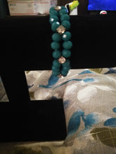 Load image into Gallery viewer, Girls Dark Teal and Silver Bracelet