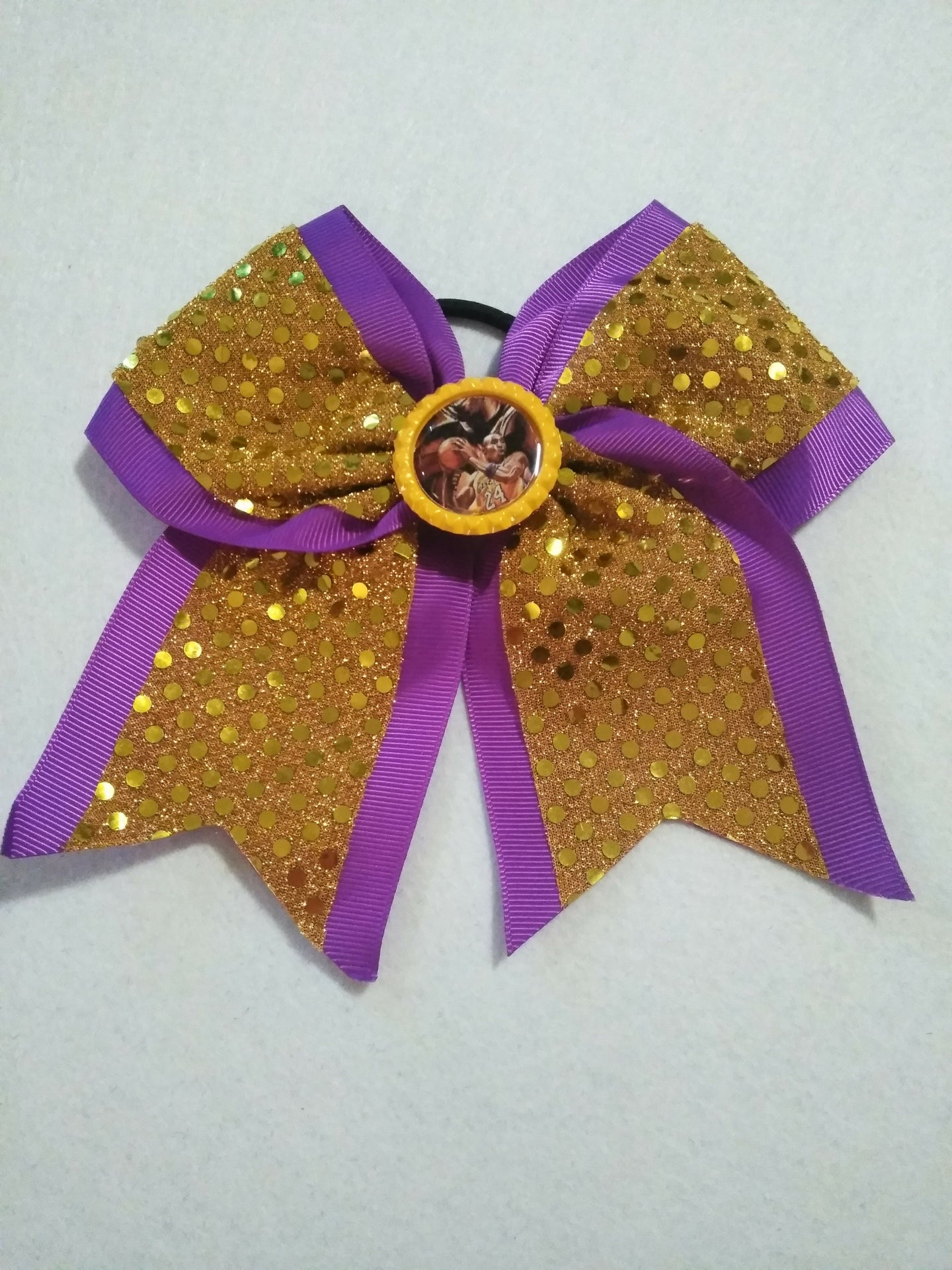 Two Toned Kobe Bryant Inspired Cheer Hair Bow