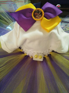 Purple and Yellow Handmade Tutu