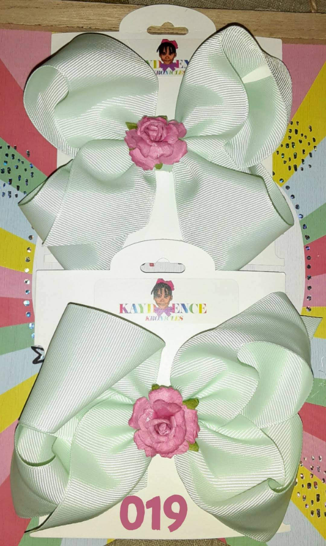 6 Inch Solid Colored Hair Bow Flower