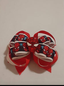 Spiderman Inspired Boutique Hair Bow