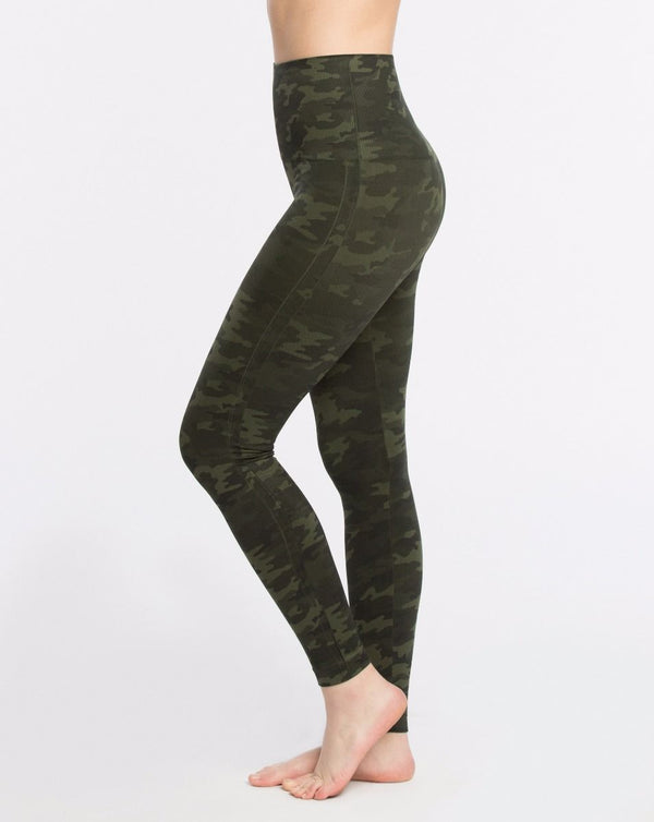 SPANX Look At Me Now Seamless Leggings {CAMO GREEN}