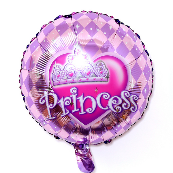 Princess Foil Balloon - Pk / 5