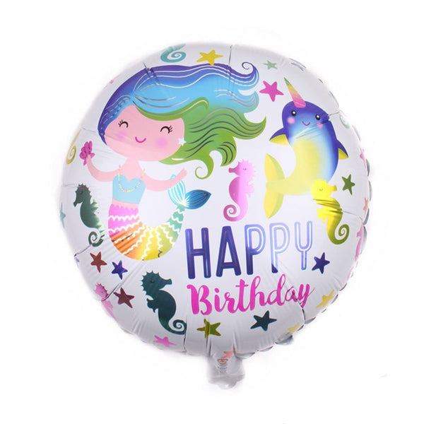 Mermaid Birthday Foil Balloon - Pk / 5