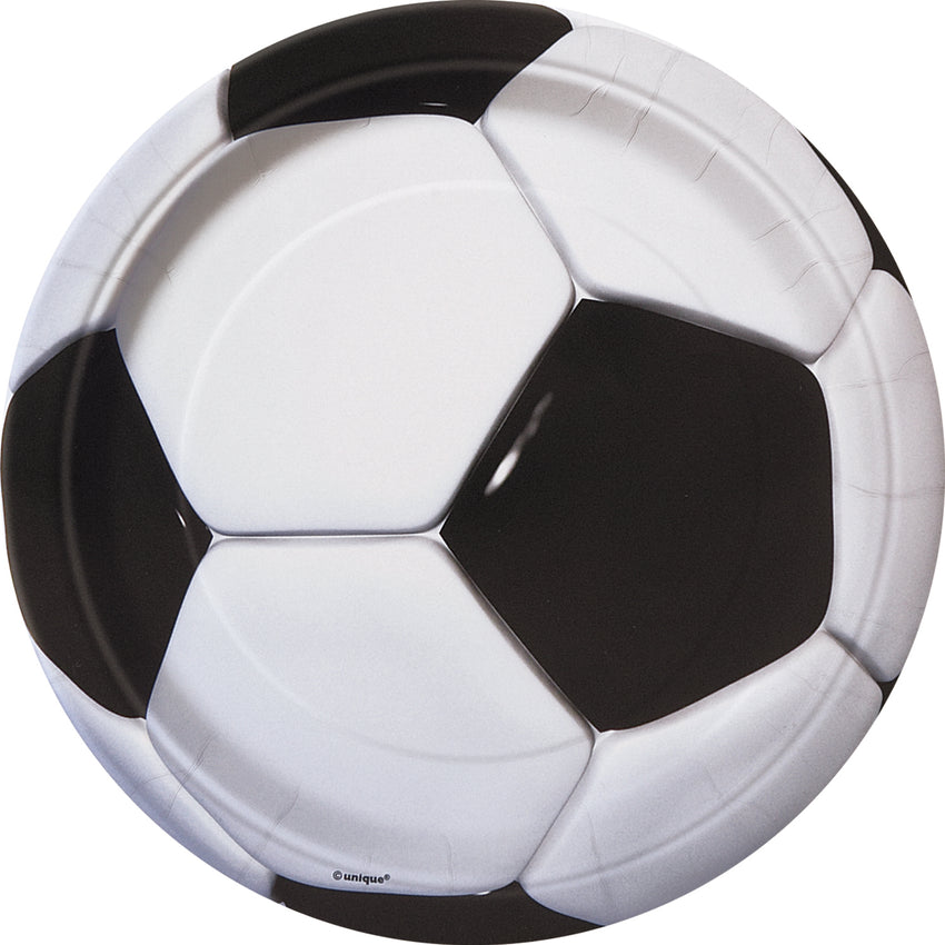3D Football Paper Plates - 8/pack