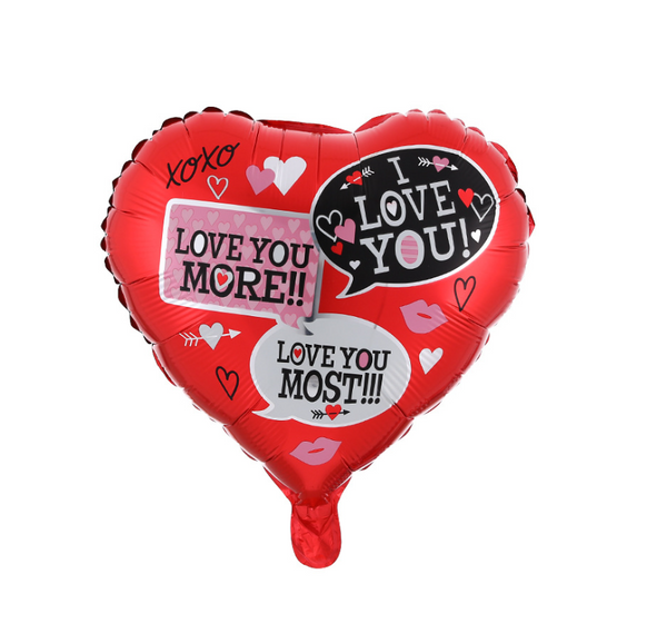 Love Chat Foil Balloon - Pk / 5