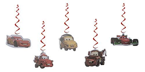 Disney Pixar Cars Party Danglers & Swirls- Pack of 10 Pieces