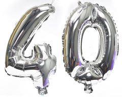Silver Number Foil Balloon