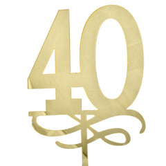 40 Number Acrylic Mirror Cake Topper
