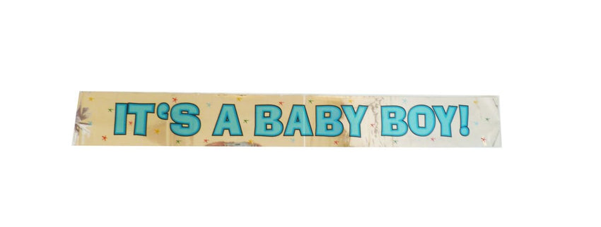 """ Its a Baby Boy"" Foil Banner"