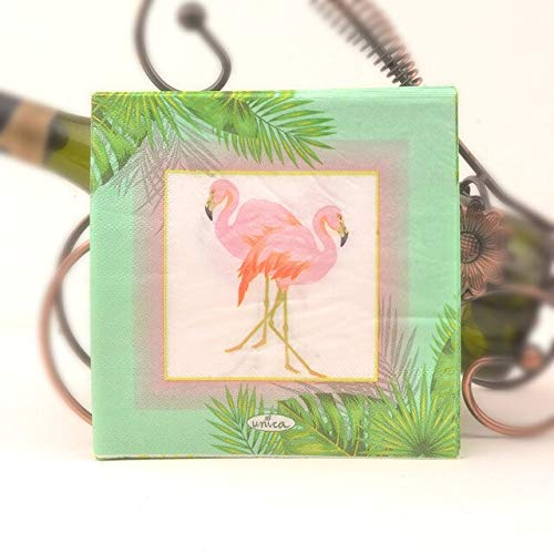 Flamingo 2 Ply Paper Napkins - Pack of 40 Sheets