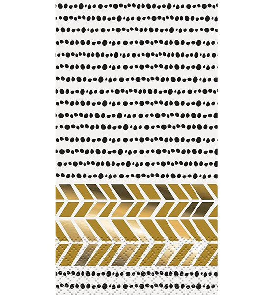 Foil Chic Black & Gold Napkins - 16/pack