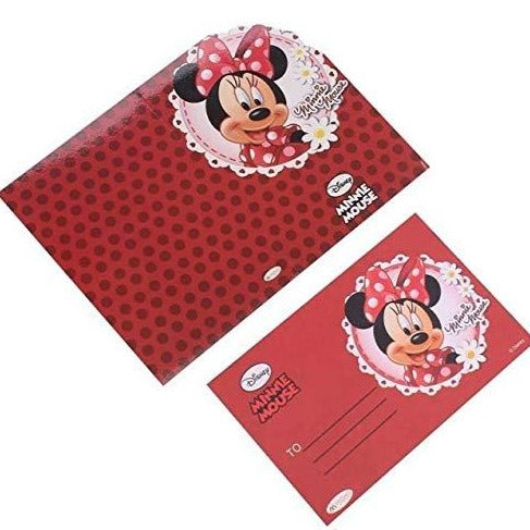 Minnie Mouse Invitation cards with Envelopes - 30/pack