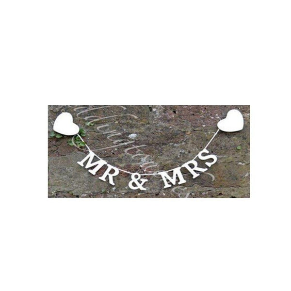 "Party-Anthem ""Mr & Mrs"" Wedding Banner"