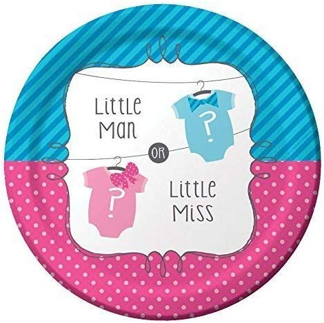 """Little Man or Little Miss"" Paper Plates - Pack of 8"