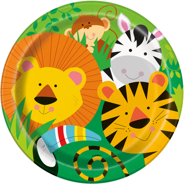 Jungle Animal Paper Plates- 8/pack