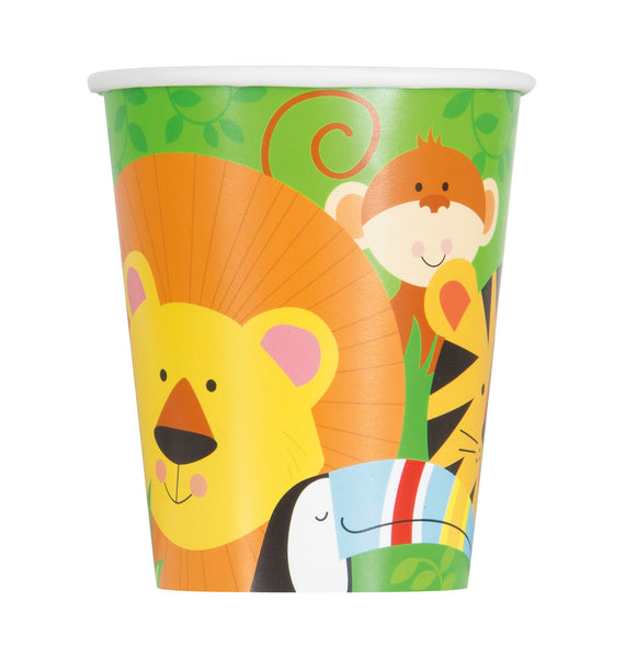 Jungle Animal Paper Cups - 8/pack
