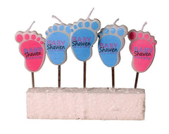 Baby Shower Footprint Candle - Pack of 5 pcs