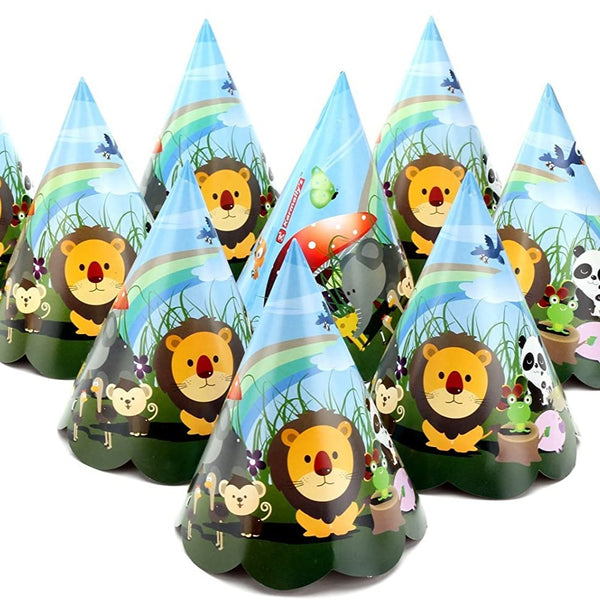 Jungle Safari Paper Hats - Pack of 30