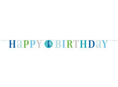 """Happy 1st Birthday""  6 feet Letter Banner"