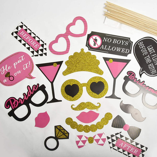 Hen Party Photo Booth Props - Pack of 20 pcs