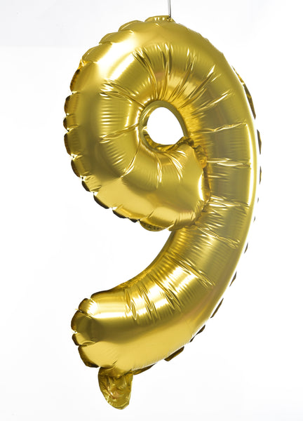 Number Golden Foil Balloon