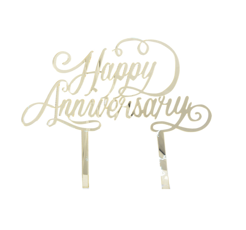"""Happy Anniversary"" Cake Topper"