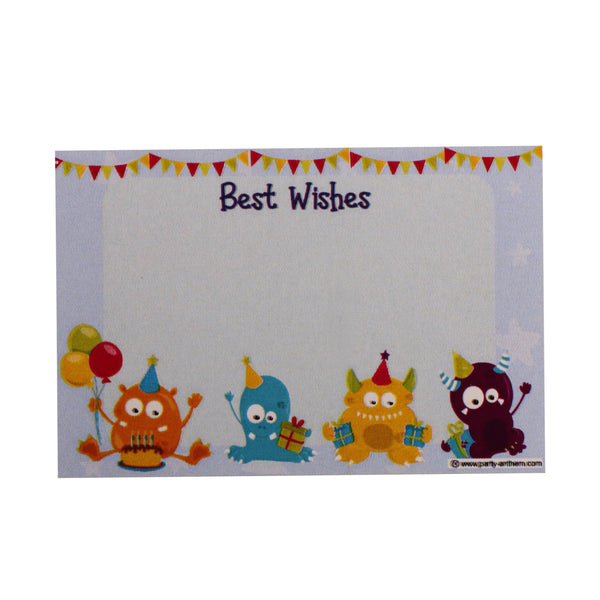 Monster Gift Wrapping Paper with Name Tags – Pk / 40 pcs
