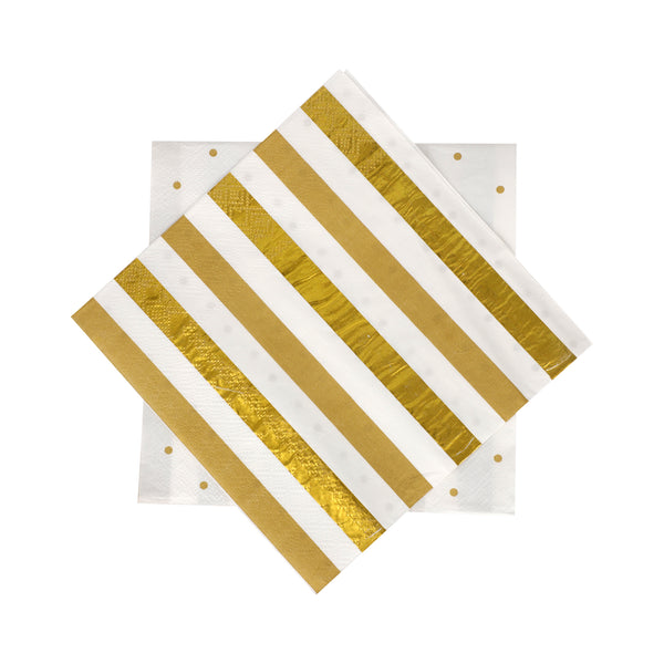 Gold Foil Paper Napkins 2 ply - 40/pack