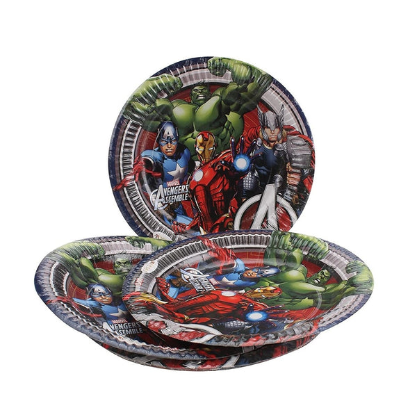 Marvel Avengers Party Paper Plates -Pack of 30