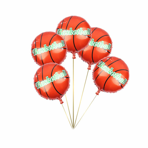 Basketball Foil Balloon - Pk/5